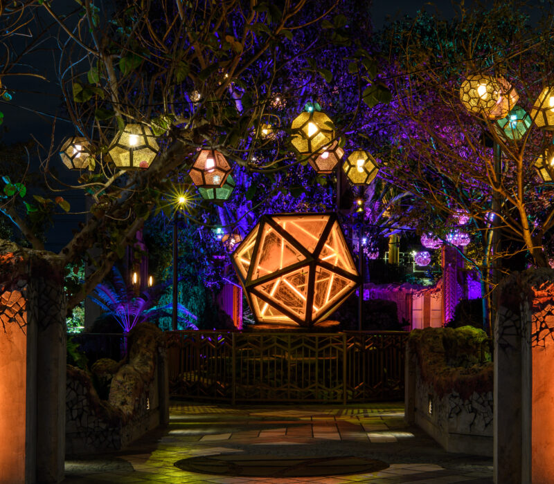Ancient Sanctum at Night (Richard Harbaugh/Disneyland Resort)