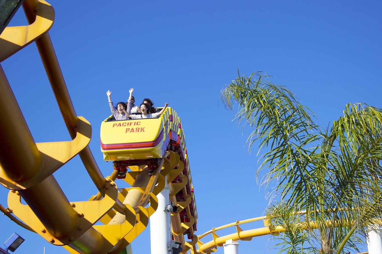 roller coaster, ride, fun