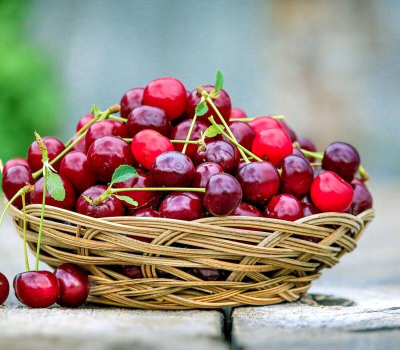 cherry, basket, berry